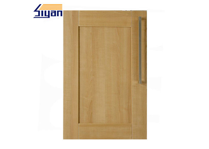 Wood Grain Shaker Kitchen Cabinet Doors 458*688mm With PVC Film Wrapped