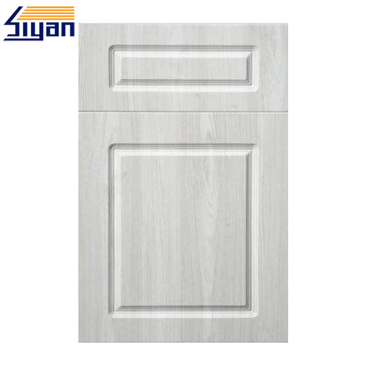 Custom MDF Board Wood Grain PVC Kitchen Cabinet Doors 408*668mm